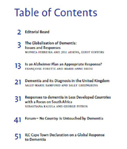 Global Ageing: Issues and Action (7(1) table of contents